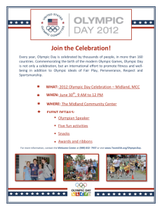 Midland Olympic Day Poster