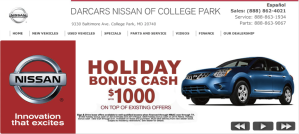 DARCARS Nissan Website Advertisement