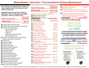 Toyota brochure inside